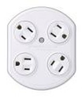 4-Outlet Rotating Adapter